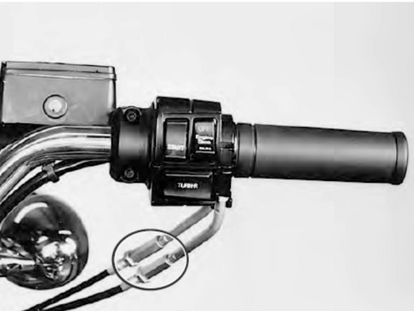 motorcycle handle bars and throttle