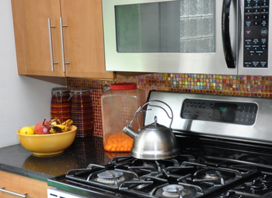 microwave oven over stove range