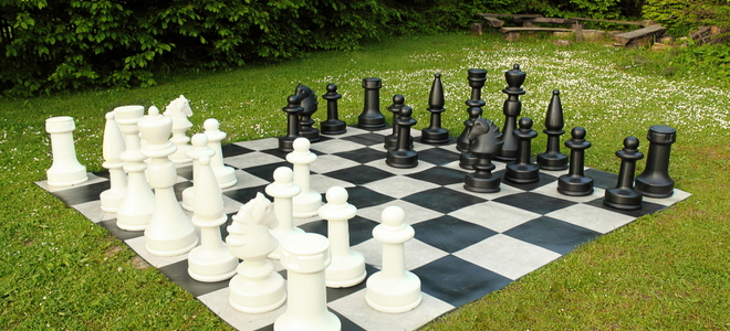 diy a backyard checker and chess board. Black Bedroom Furniture Sets. Home Design Ideas