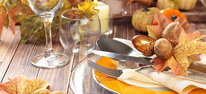 A Thanksgiving tablescape.