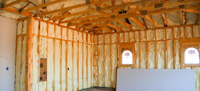 Spray foam insulation doityourself spray foam insulation is an alternative to sheets of spun fiberglass for weatherproofing attics walls ceilings and crawl spaces solutioingenieria Gallery