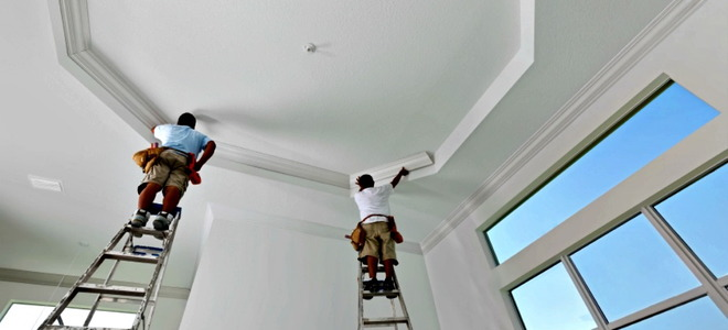 How To Paint A Tray Ceiling Doityourself