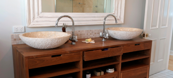 How to refinish bathroom vanity cabinets - How to redo bathroom cabinets for cheap ...