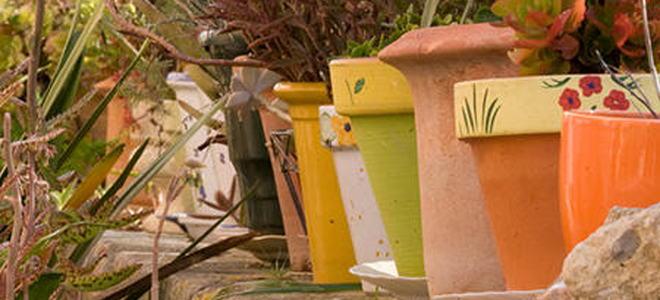 How to paint terracotta pots - Terracotta exterior paint set ...