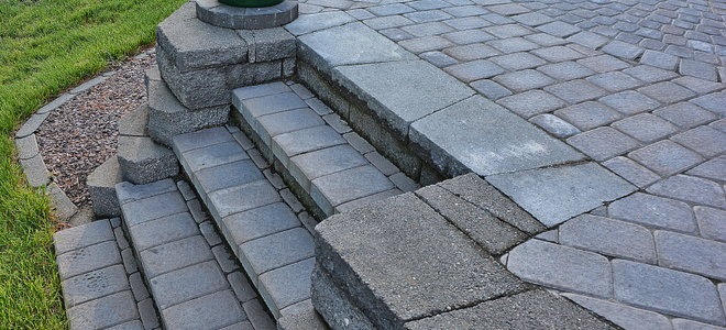 Very How to Build Paver Patio Steps | DoItYourself.com BY66