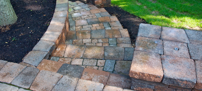 How to build paver steps into a hillside for Steps to building a house yourself