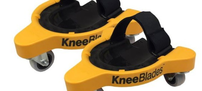 plastic and foam knee pads with wheels