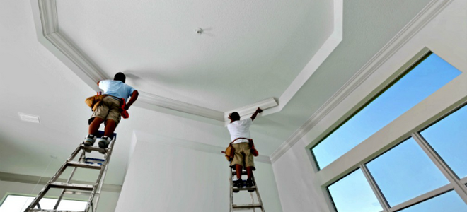 How To Paint A Cathedral Ceiling Doityourself Com
