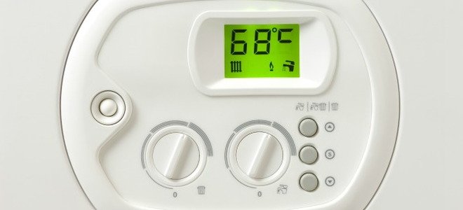 A programable thermostat.