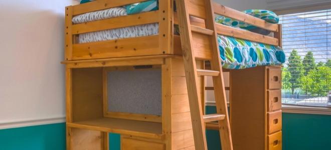 Построить лестницу для кровати чердака