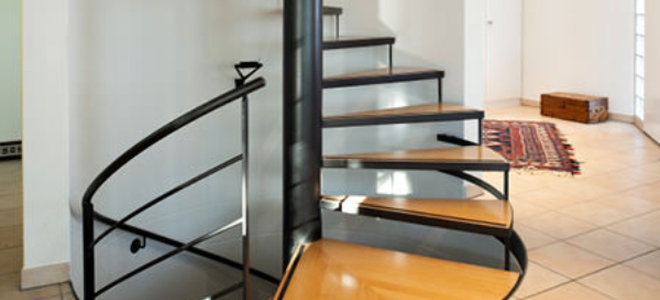 ... Create Access To A Loft Or Upper Floor, A Spiral Staircase Is An  Extremely Efficient Solution. Spiral Staircases Can Be Purchased Prebuilt  And Installed ...