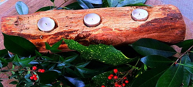 Gift From Nature: Turn a Log Into a Candle Holder