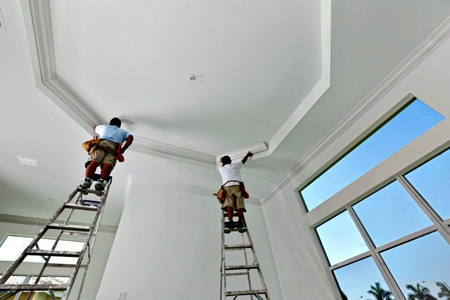How To Paint A Tray Ceiling Doityourself Com