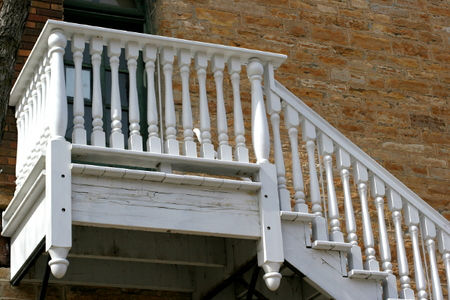 how to paint an exterior staircase. Black Bedroom Furniture Sets. Home Design Ideas