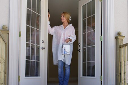 How To Paint French Doors Doityourself Com