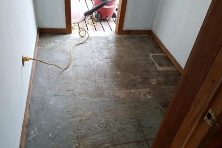 Hot topics preparing subfloor for vinyl tile for Preparing floor for vinyl