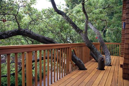 Use redwood for sustainable home improvements for Sustainable decking