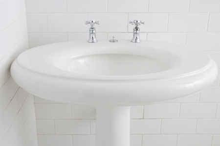 Build Bathroom Cabinets Around A Free Standing Sink