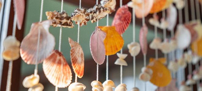 hanging seashells for natural design