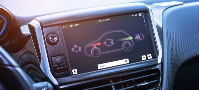 electric car regenerative breaking screen