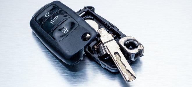 broken remote control for car key