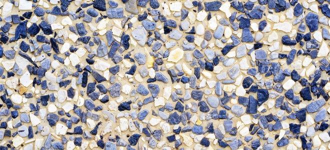сине-белая галька