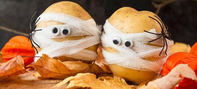 potato halloween decorations