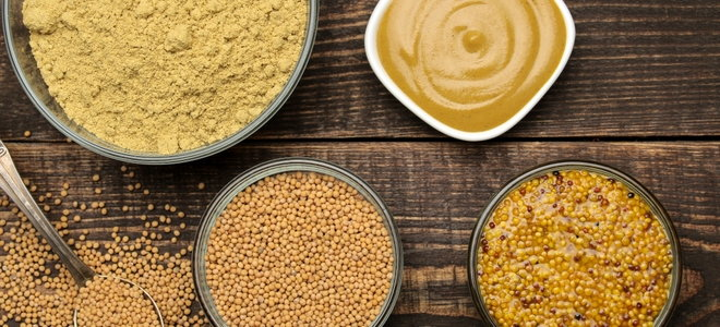 mustard seeds and sauces