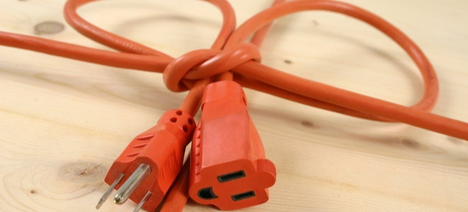 extension cords tied together