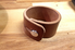 Leather cuff on worktable