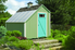 A green shed.