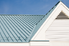 metal roof painted light blue