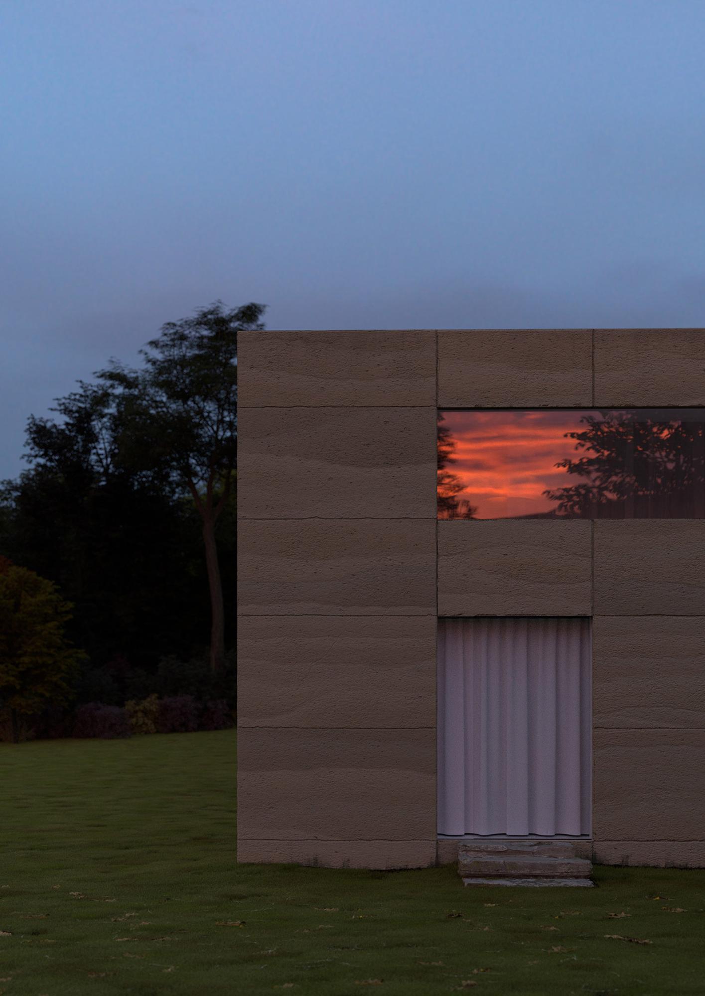 The neutral stone exterior of Services Généraux's conceptual