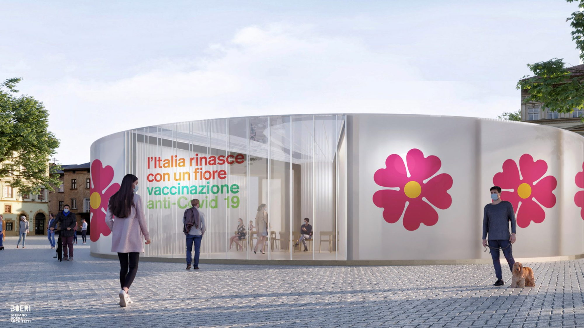 Stefano Boeri's Flowery COVID-19 Vaccination Pavilions to Help Respark Public Life in Italy