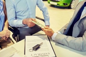paying tax, title, and license fees