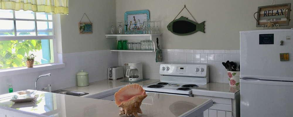Full kitchen in each unit.