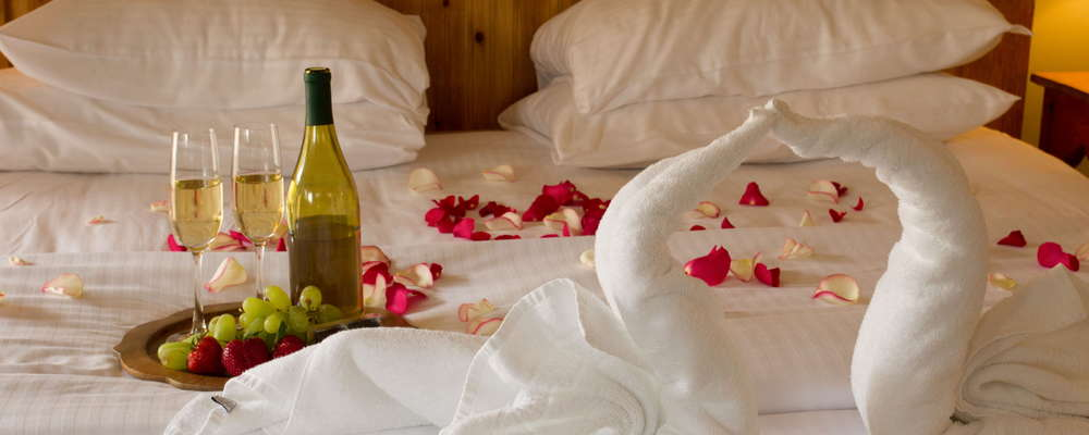 Enjoy our many amenities including a romantic rose petal turndown