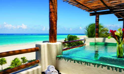 Terrace Jacuzzi at Secrets Maroma Beach Riviera Cancun