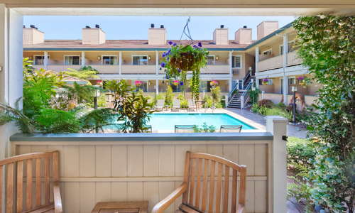 Our Garden pool rooms open out to the sundeck and heated saltwater pool.
