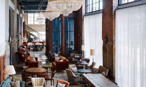 Soho House Chicago's public lobby restaurant and bar, The Allis
