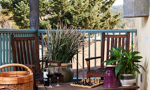 Private patio off guest room at Sonoma Creek Inn