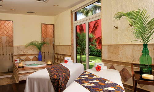 One of the many private massage cabins available to create a sensual experience to soothe the mind, body and soul.