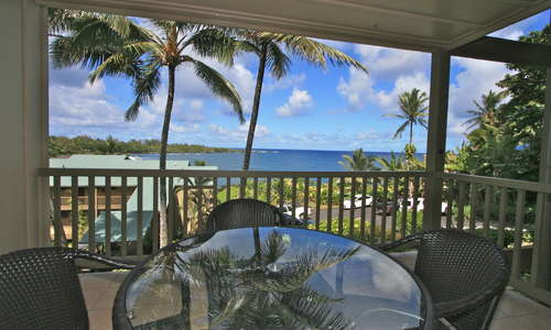 Oceanview 1-Bedroom - Unit #103 (View from Lanai)