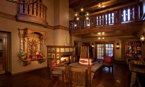 Hotel Lobby with Original Art & Furnishings
