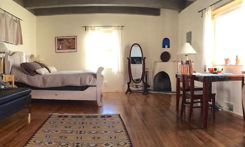 Lone Butte Casita with kiva fireplace, kitchenette and sunset views