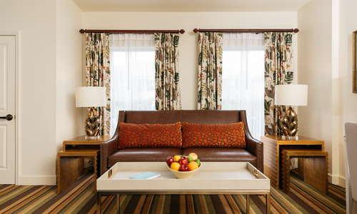 Bohemian Hotel Celebration Guestroom Sitting Area