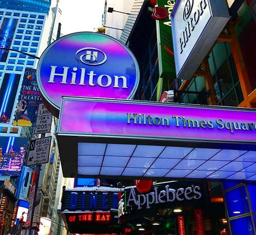 Skyline Views From The Restaurant And Rooms Are One Of Hotel S Best Features Location Is Ideal For Times Square Entertainment Convenient
