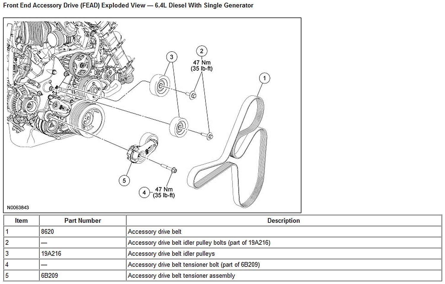 2008 ford 64 powerstroke belt diagram