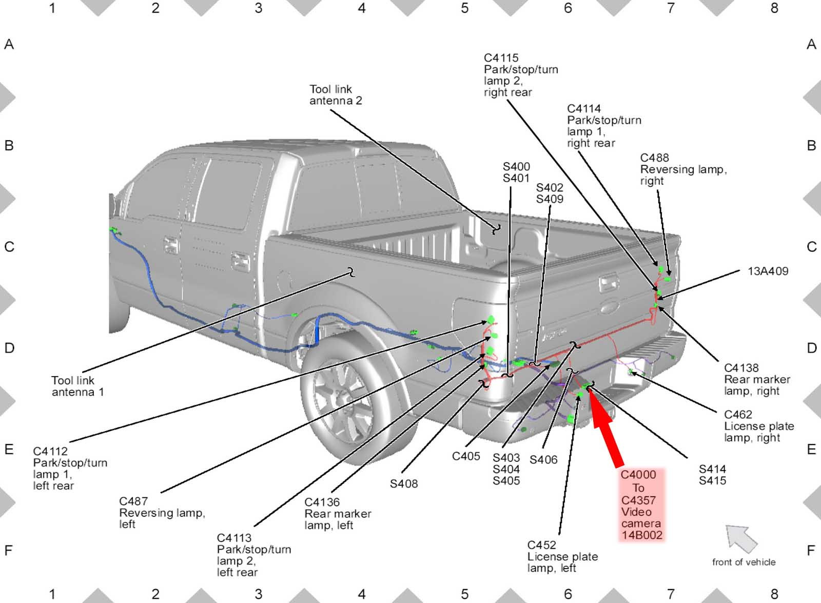 RearWiringDiagram 26093 ford f150 f250 install rearview backup camera how to ford trucks Ford Tachometer Wiring Diagram at creativeand.co