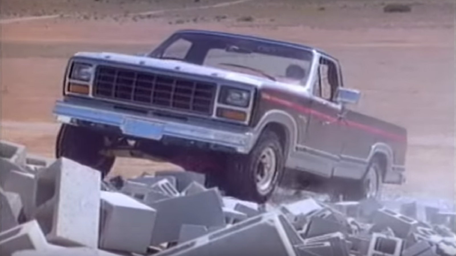 Ford Conquers a Mountain of Cinder Blocks - Economically